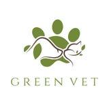 plantilla para la clínica veterinaria con el gato y el perro Vector Foto de archivo