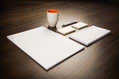 Plantilla para la identidad de marcado en caliente para las presentaciones de los diseñadores gráficos Foto de archivo libre de regalías