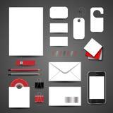 Plantilla para la identidad de marcado en caliente Para las presentaciones y las carteras de los diseñadores gráficos Imagen de archivo