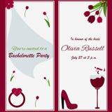 Plantilla para la invitación del partido de la soltera Imágenes de archivo libres de regalías