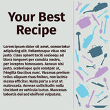 Plantilla para la receta culinaria Imagen de archivo libre de regalías