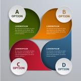 Plantilla para las opciones infographic del vector 4 Puede ser utilizado para la disposición del flujo de trabajo, diagrama, band Fotografía de archivo