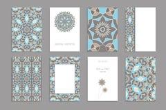 Plantilla para las tarjetas del saludo y de visita, folletos, cubiertas stock de ilustración