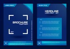 Plantilla para los folletos, las letras, los aviadores, el etc Jeringuilla del concepto design Imagenes de archivo