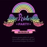 Plantilla para Pride Party Imágenes de archivo libres de regalías