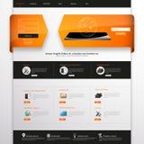 Plantilla para su negocio, ejemplo del sitio web del vector del EPS 10, Fotografía de archivo