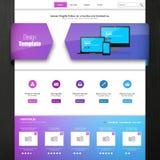 Plantilla para su negocio, ejemplo del sitio web del vector del EPS 10, Foto de archivo libre de regalías