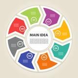 Plantilla para su presentación del negocio con el gráfico de la información de las áreas de texto ilustración del vector