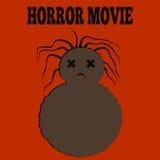 Plantilla para un cartel Monstruo marrón feo con el pelo despeinado a Imagenes de archivo