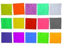 Plantilla pegajosa del papel coloreado fotos de archivo libres de regalías