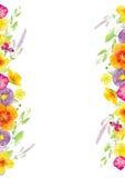 Plantilla pintada a mano del clipart de la maqueta de la acuarela de flores salvajes libre illustration
