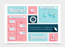 Plantilla plana de Infographic del negocio libre illustration