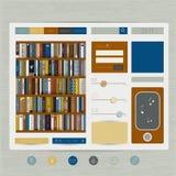 Plantilla plana del diseño del sitio web ilustración del vector