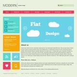 Plantilla plana del diseño web. Imagen de archivo libre de regalías