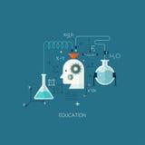 Plantilla plana del ejemplo del concepto diseño para la educación stock de ilustración