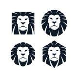 Plantilla principal del león Fotos de archivo libres de regalías