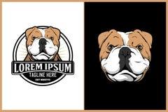 Plantilla principal del logotipo del vector del dogo inglés libre illustration