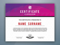 Plantilla profesional moderna multiusos del certificado stock de ilustración