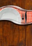 Plantilla rústica del menú Foto de archivo libre de regalías