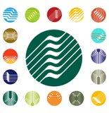 Plantilla redonda del logotipo del vector del diseño Fotografía de archivo libre de regalías