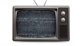 Plantilla retra de la TV Fuzzy Fade To Empty Screen (canal alfa) almacen de metraje de vídeo