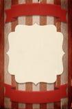 Plantilla retra del cartel del estilo del circo en fondo rayado con ri stock de ilustración