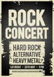 Plantilla retra del diseño del cartel del concierto de rock del ejemplo del vector en vieja textura de papel ilustración del vector