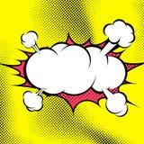 Plantilla retra grande de la nube de la explosión del cómic del estilo Imágenes de archivo libres de regalías