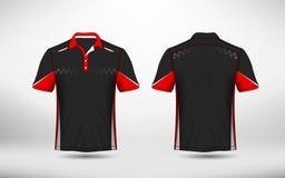 Plantilla roja, blanco y negro del diseño de la camiseta del e-deporte de la disposición libre illustration