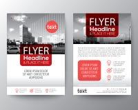 Plantilla roja de la disposición de diseño del cartel del aviador de la cubierta del folleto ilustración del vector