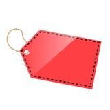 Plantilla roja de la etiqueta Fotografía de archivo libre de regalías