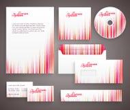Plantilla roja de la identidad corporativa con vertical Foto de archivo libre de regalías