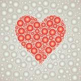 Plantilla roja del fondo de la burbuja del corazón Imagen de archivo libre de regalías