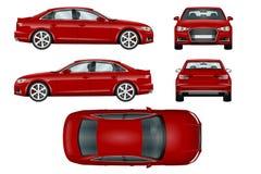 Plantilla roja del vector del coche deportivo Imágenes de archivo libres de regalías