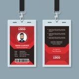 Plantilla roja y negra moderna de la tarjeta de la identificaci?n ilustración del vector