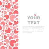 Plantilla rosada de la bandera de los corazones libre illustration