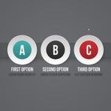 Plantilla simple del negocio con tres opciones Foto de archivo libre de regalías