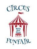 Plantilla simple para el circo, cartel del funfair stock de ilustración