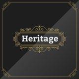 Plantilla superior de la etiqueta del vintage Fotografía de archivo