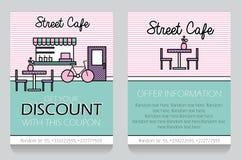 Plantilla temática del vale de regalo del café de la calle Libre Illustration