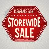 Plantilla tipográfica del diseño de la venta de Storewide Fotos de archivo libres de regalías