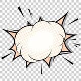 Plantilla transparente Explosión del cómic del auge stock de ilustración