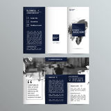 Plantilla triple geométrica del folleto del negocio Fotografía de archivo