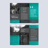 Plantilla triple geométrica del folleto del negocio Fotografía de archivo libre de regalías