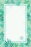 Plantilla tropical del fondo de las hojas de palma Fotografía de archivo libre de regalías
