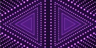 Plantilla ultravioleta del fondo de los triángulos del vector, forma geométrica de neón, tecnología stock de ilustración