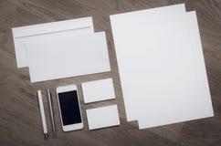Plantilla vacía del diseño del papel con membrete Foto de archivo libre de regalías