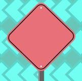 Plantilla vacía del negocio para la disposición para el espacio en blanco Diamond Shape Color Road del vale del cartel de la prom ilustración del vector