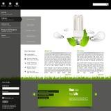 Plantilla verde de la disposición del sitio web del eco Fotos de archivo