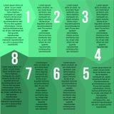 Plantilla verde del segmento Fotografía de archivo